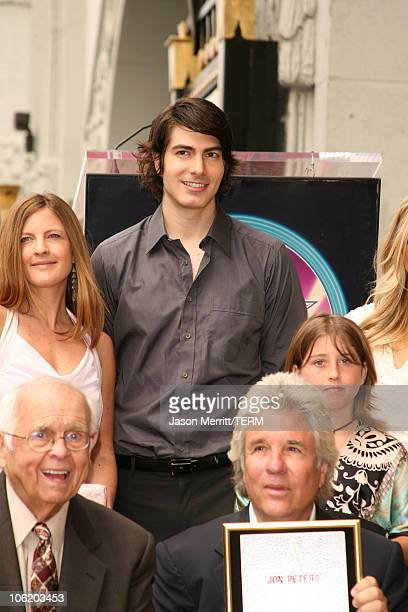 Johnny Grant Brandon Routh and Jon Peters with Jon Peters family