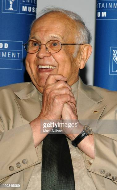 Johnny Grant during Johnny Grant Hosts Panel Discussion on USO Experience at Hollywood Entertainment Museum in Hollywood California United States