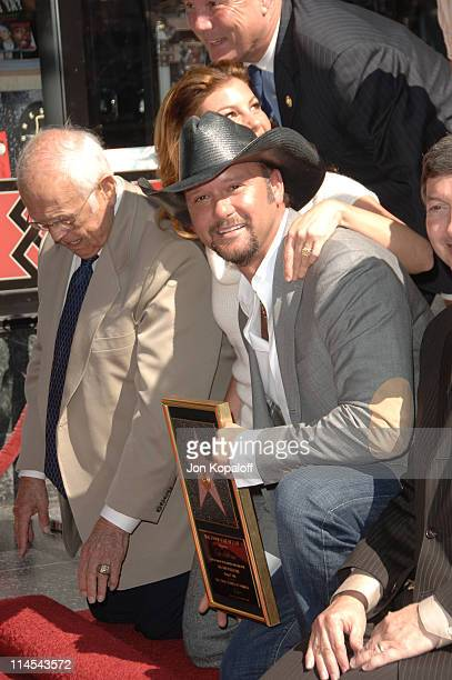 Johnny Grant Faith Hill and Tim McGraw during Tim McGraw Honored with a Star on the Hollywood Walk of Fame at 6901 Hollywood Blvd in front of the...
