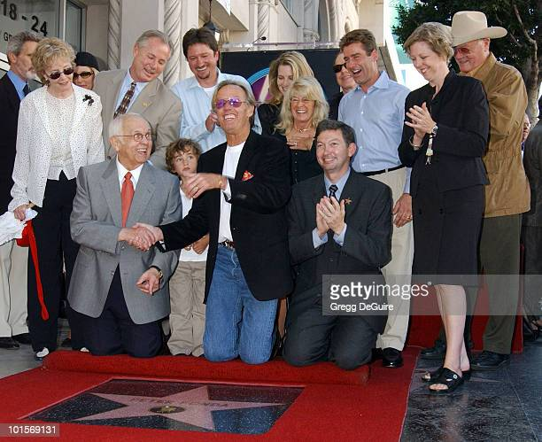Johnny Grant honorary mayor of Hollywood and chairman of the Walk of Fame Committee Thomas McGuane V grandson of Peter Fonda Peter Fonda Leron Gubler...
