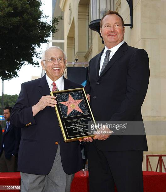 Johnny Grant Honorary Mayor of Hollywood and Chairman of the Walk of Fame Committee with Randy Quaid