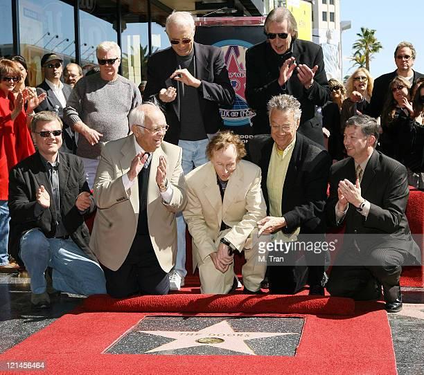 Johnny Grant honorary Mayor of Hollywood Jac Holzman founder of Elektra Records Jim Ladd KLOS DJ Robby Krieger and Ray Manzarek of The Doors Leron...