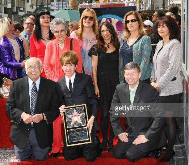 Johnny Grant Honorary Mayor of Hollywood Rodney Bigenheimer and Leron Gubler with Pauley Perrette the Bangles and members of the Bigenheimer family