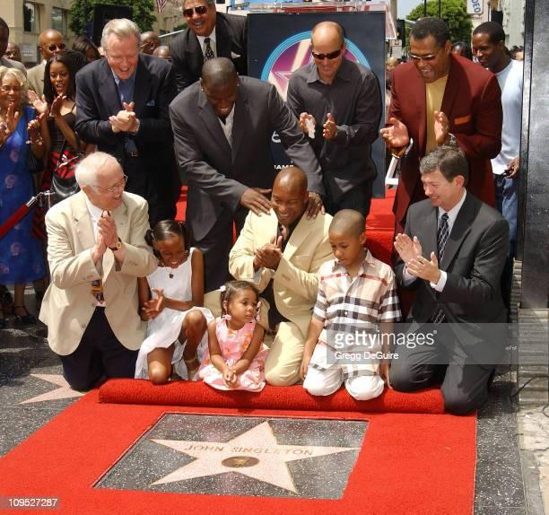 Johnny Grant John Singleton his kids Justice Cleo Massai Leron Gubler Jon Voight Tyrese Gibson producer Neal Moritz Laurence Fishburne