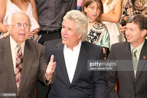 Johnny Grant Jon Peters and Leron Gubler during Jon Peters Honored with a Star on the Hollywood Walk of Fame May 1 2007 at 6925 Hollywood Blvd in...