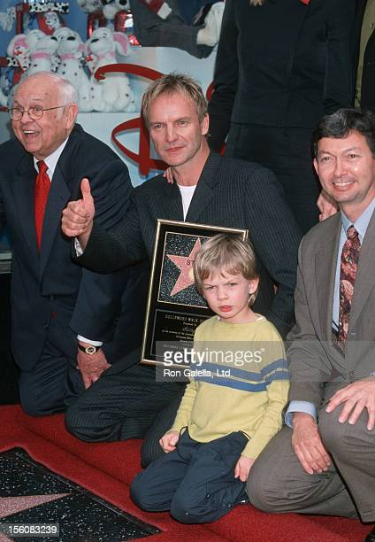 Johnny Grant Sting Giacomo Sumner and guest during Sting Honored with a Star on the Hollywood Walk of Fame at Hollywood Boulevard in Hollywood...