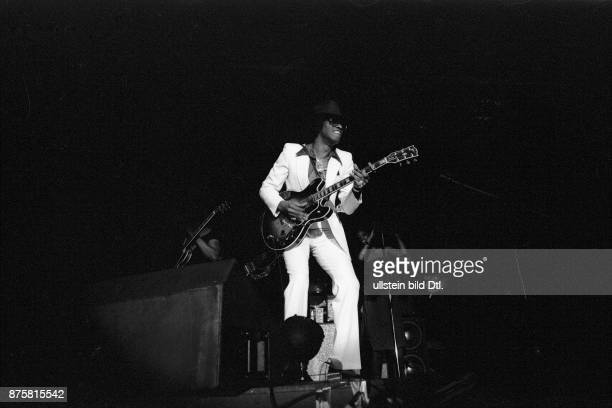 Johnny 'Guitar 'Watson American blues soul and funk musician and singersongwriter on stage in Berlin