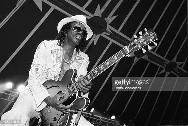 Johnny Guitar Watson vocalguitar performs at the North Sea Jazz Festival in the Hague the Netherlands on 14 July 1990