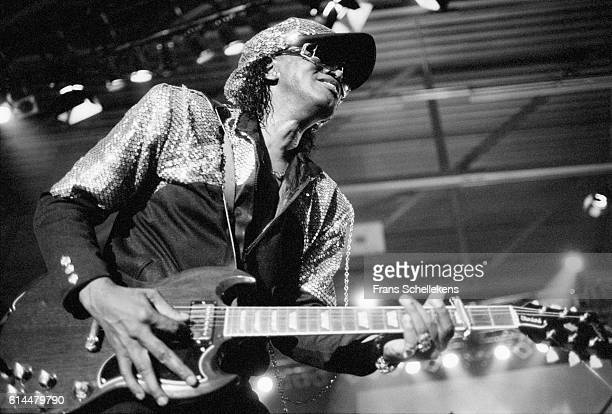 Johnny Guitar Watson, vocals and guitar, performs on July 11th 1993 at the North Sea Jazz Festival in The Hague, Netherlands