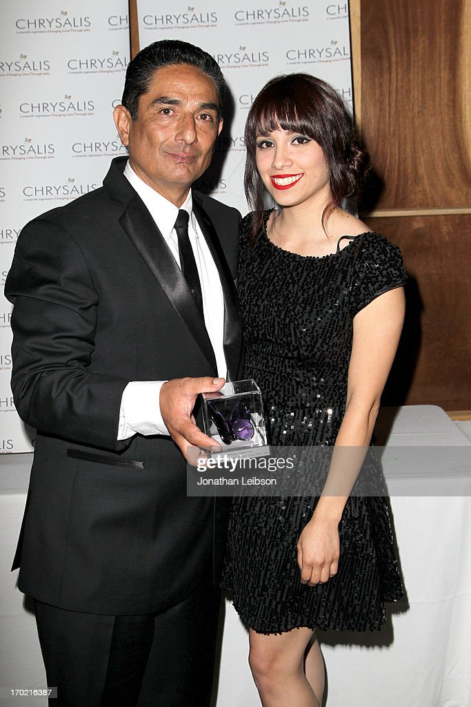 Johnny Gutierrez, recipient of the John Dillon Award (L) and Christina Gutierrez attend the 12th Annual Chrysalis Butterfly Ball on June 8, 2013 in Los Angeles, California.