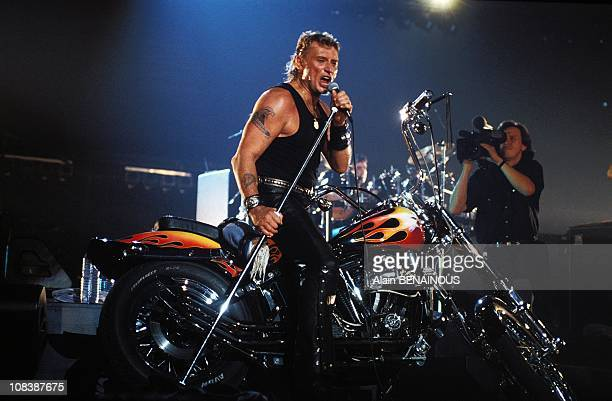 Johnny Halliday at concert at Bercy in Paris France on September 15 1992