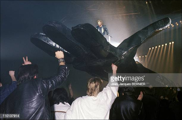 Johnny Hallyday at the Zenith in ParisFrance on February 2nd1985