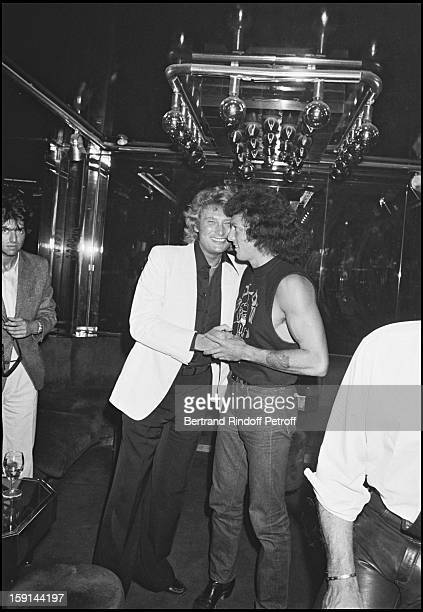 Johnny Hallyday celebrates his 38th birthday at the Elysee Matignon night club in Paris in 1981