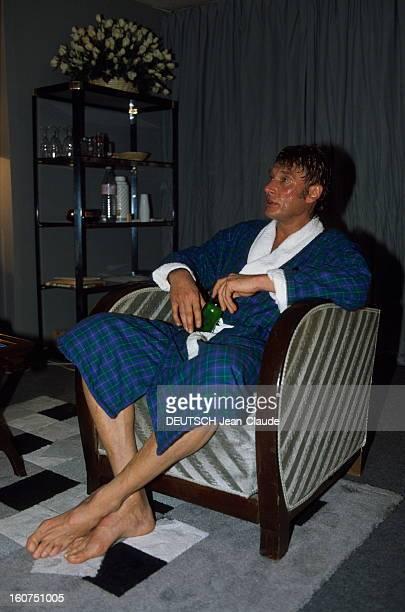 Johnny Hallyday Concert At The Palais Omnisports De Parisbercy Paris 16 septembre 1987 A l'occasion d'un concert de Johnny HALLYDAY au Palais...