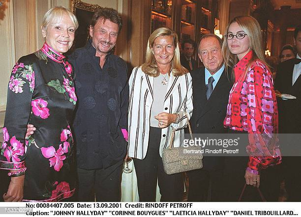 Johnny Hallyday Corinne Bouygues Laeticia Hallyday Daniel Tribouillard Jacques Mouclier at The Legion D' Honneur Award Ceremony In Paris