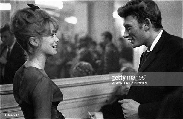 Johnny Hallyday in the sixties in France Catherine Deneuve and Johnny Hallyday in Les Parisiennes in France in November 1961