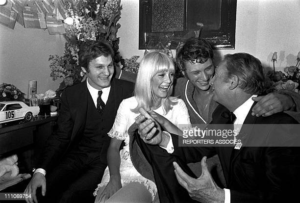 Johnny Hallyday in the sixties in France Johnny Hallyday and Sylvie at Olympia in Paris France on March 18 1967 Jean Jacques Debout Sylvie Vartan...