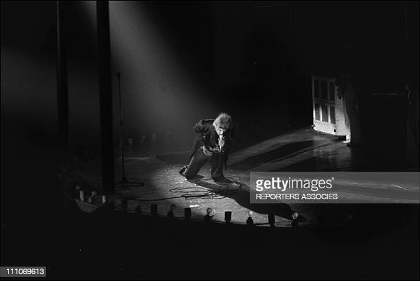 Johnny Hallyday in the sixties in France Johnny Hallyday at the Palais des Sports in Paris France on April 26 1969