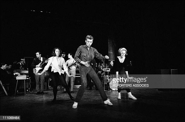 Johnny Hallyday in the sixties in France Johnny Hallyday dancing in France on October 27 1962