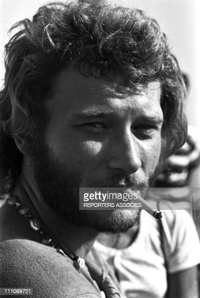 Johnny Hallyday in the sixties in France Portrait of Johnny Hallyday in Saint Raphael France in August 1969