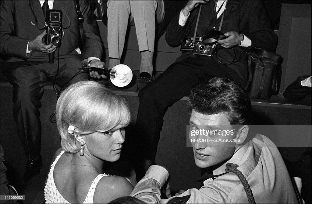 Johnny Hallyday in the sixties in France. : ニュース写真