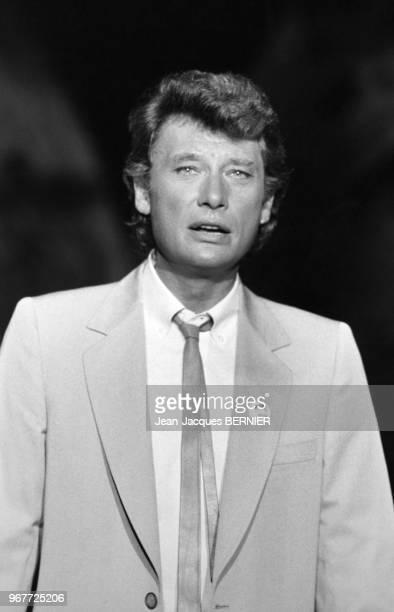 Johnny Hallyday invité de l'émission 'Champs Elysées' le 23 juin 1983 Paris France