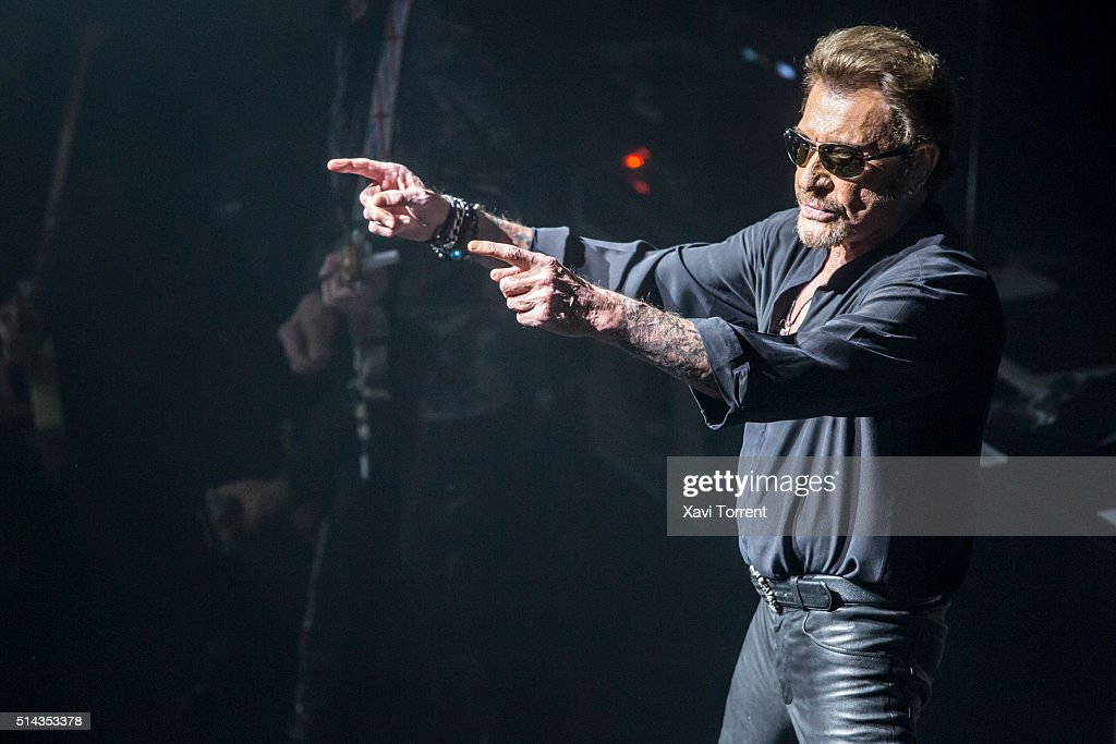 Johnny Hallyday Performs in Concert in Barcelona