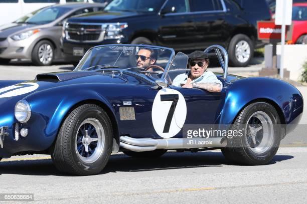 Johnny Hallyday with Maxim Nucci aka Yodelice are seen California