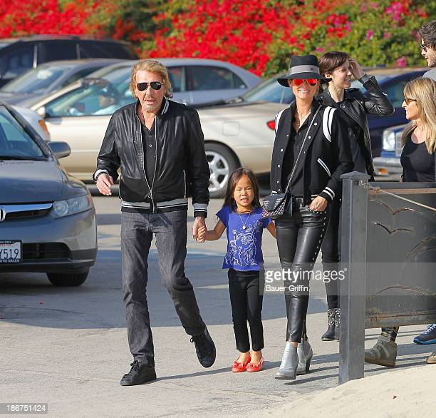 Johnny Hallyday with wife Laeticia Hallyday and daughter Joy Hallyday are seen in on November 03 2013 in Los Angeles California