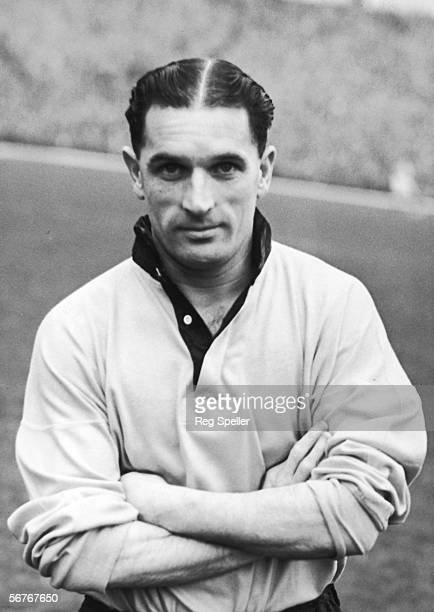 Johnny Hancocks outside right for Wolverhampton Wanderers FC and England 3rd December 1954