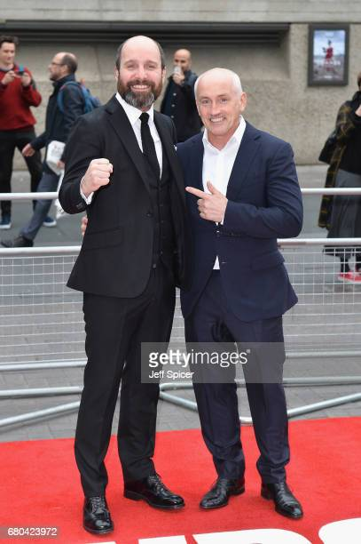 Johnny Harris and Barry McGuigan attend the Jawbone UK premiere at BFI Southbank on May 8 2017 in London United Kingdom