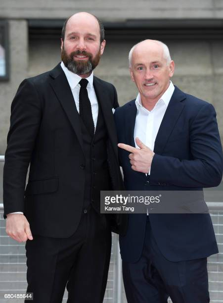 Johnny Harris and Barry McGuigan attend the 'Jawbone' UK premiere at BFI Southbank on May 8 2017 in London United Kingdom