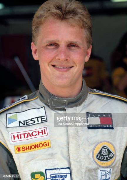 Johnny Herbert of Great Britain at the South African Grand Prix in Kyalami South Africa where he placed 6th driving a Lotus 102D with a Ford V8...
