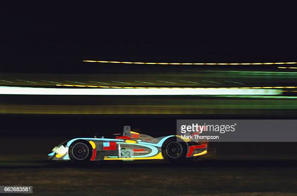Johnny Herbert of Great Britain drives the Champion Racing Audi R8 Audi V8 turbo during the FIA World Sportscar Championship 24 Hours of Le Mans on...