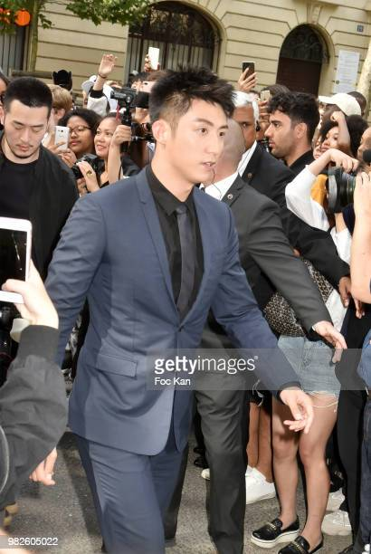 Johnny Huang attends the Dior Homme Menswear Spring/Summer 2019 show as part of Paris Fashion Week on June 23 2018 in Paris France