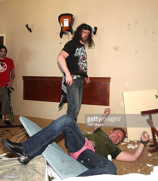 Johnny Klizz of Sinners Saints body slams Danny Bonaduce during the Battle of the Room Trashing Bands at Bally's Atlantic City on Friday June 25 2010...