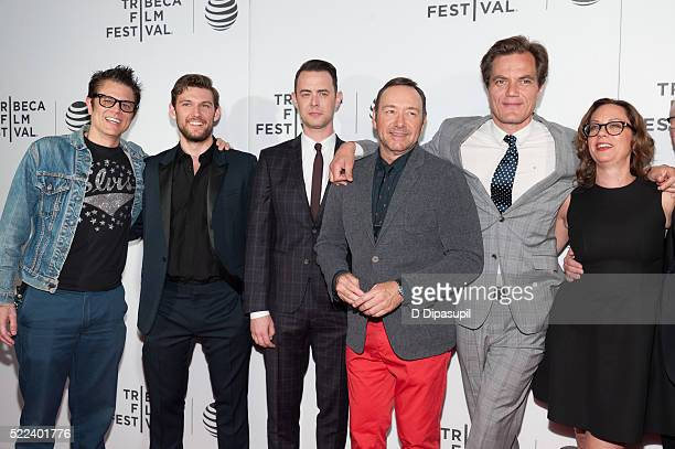 Johnny Knoxville Alex Pettyfer Colin Hanks Kevin Spacey Michael Shannon and director Liza Johnson attend the 'Elvis Nixon' premiere during the 2016...