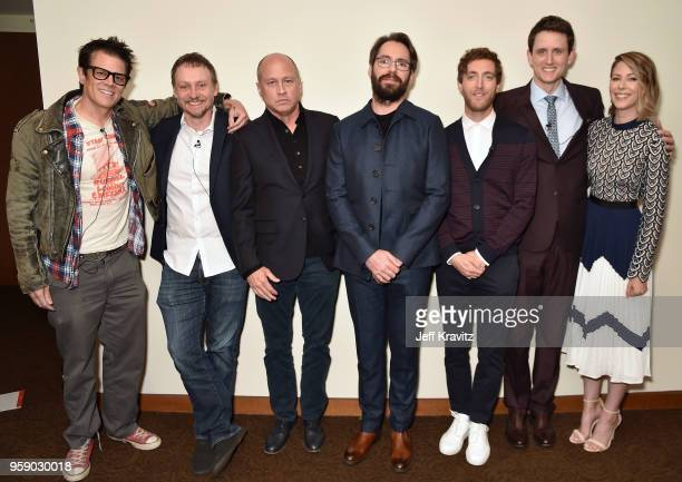 Johnny Knoxville Amy Gravitt Alec Berg Mike Judge Martin Starr Thomas Middleditch Zach Woods and Amanda Crew attend Silicon Valley S5 FYC at The...