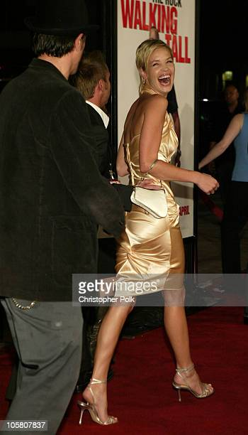 Johnny Knoxville and Ashley Scott during 'Walking Tall' Premiere at Grauman's Chinese Theatre in Hollywood CA United States