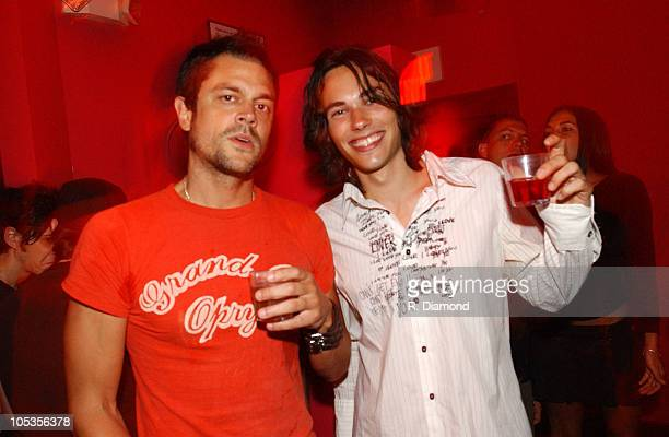 Johnny Knoxville and Ben Jelen during Spin Magazine and Jet Host VMA Party August 28 2004 at Rok Bar in Miami Beach Florida United States