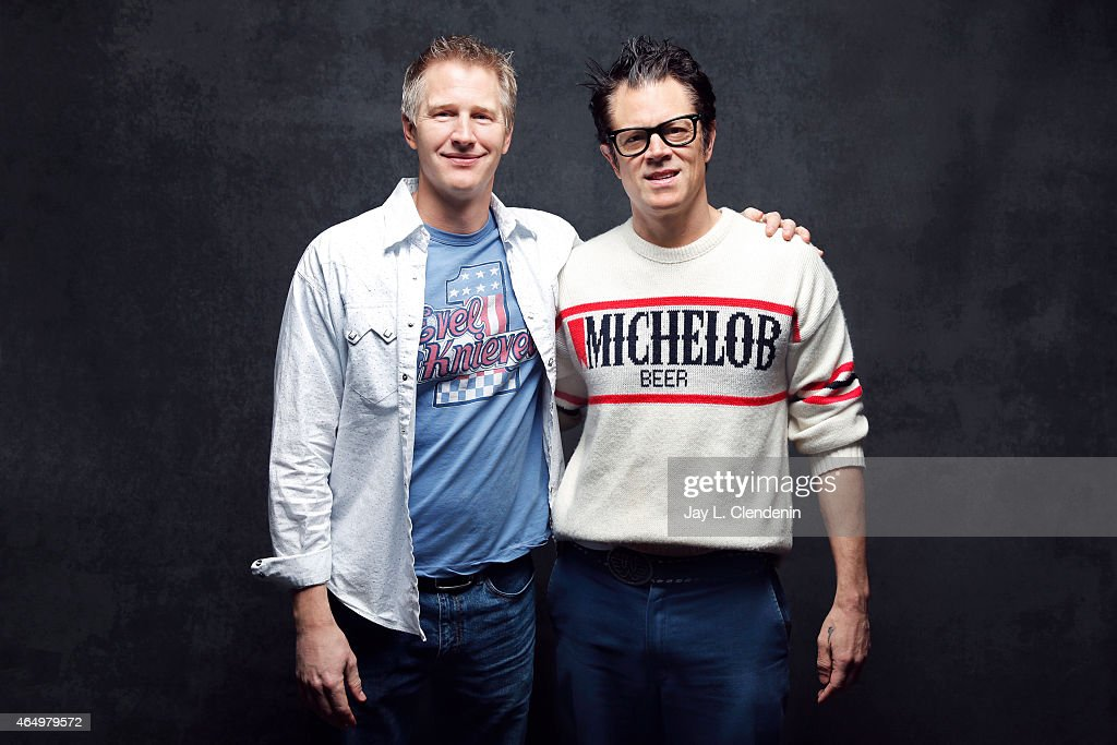 Johnny Knoxville and Daniel Junge from the film 'Being Evel' pose for a portrait for the Los Angeles Times at the 2015 Sundance Film Festival on January 24, 2015 in Park City, Utah. PUBLISHED IMAGES.