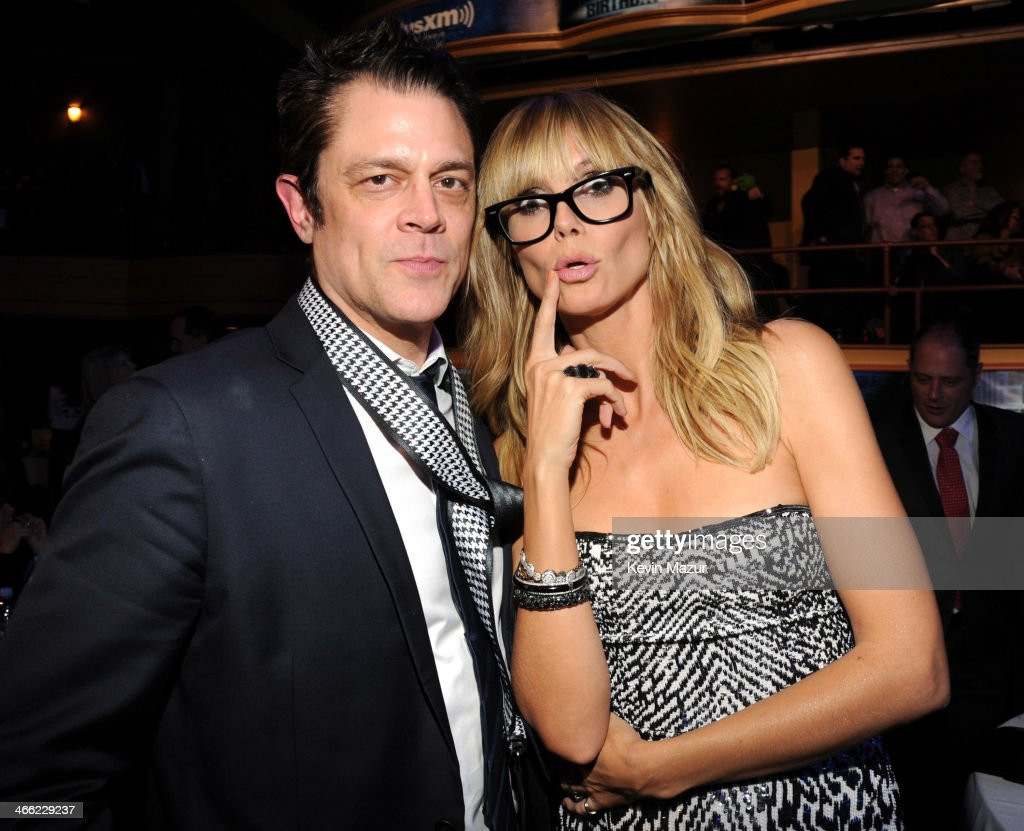 Johnny Knoxville and Heidi Klum attend 'Howard Stern's Birthday Bash' presented by SiriusXM, produced by Howard Stern Productions at Hammerstein Ballroom on January 31, 2014 in New York City.