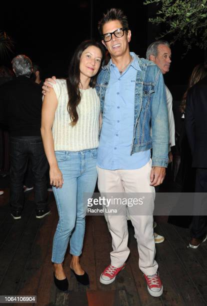 Johnny Knoxville and his wife Naomi Nelson attend HBO's Momentum Generation Premiere after party at The Bungalow on November 05 2018 in Santa Monica...