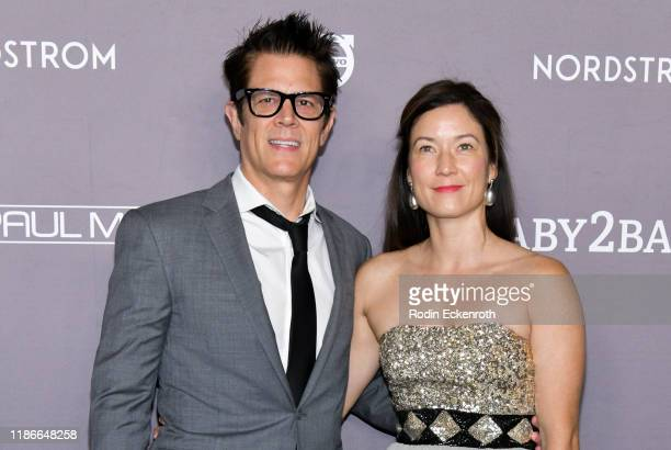 Johnny Knoxville and Naomi Nelson attend the 2019 Baby2Baby Gala Presented by Paul Mitchell at 3LABS on November 09, 2019 in Culver City, California.
