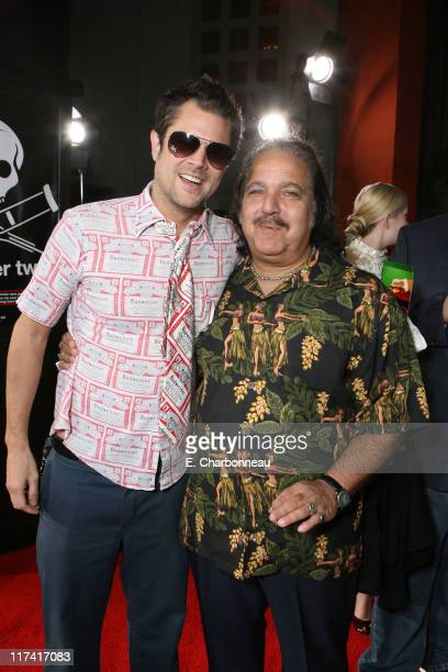 Johnny Knoxville and Ron Jeremy during World Premiere of Paramount Pictures' Jackass Number Two at Grauman's Chinese Theatre in Los Angeles...