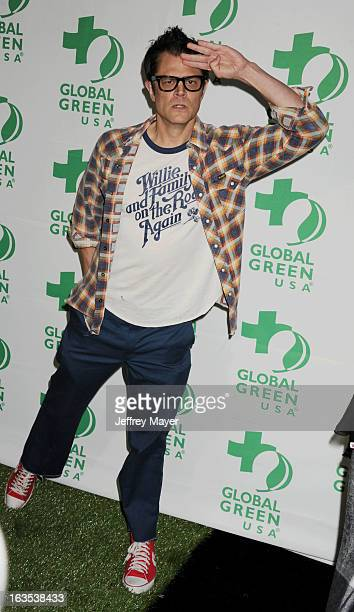 Johnny Knoxville arrives at Global Green USA's 10th Annual PreOscar party at Avalon on February 20 2013 in Hollywood California