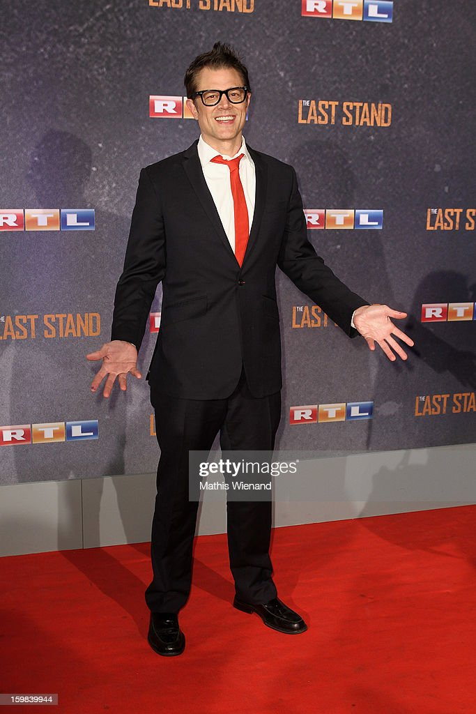Johnny Knoxville attends the 'The Last Stand' Cologne Premiere at Astor Film Lounge on January 21, 2013 in Cologne, Germany.