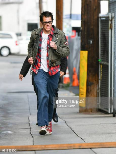 Johnny Knoxville is seen arriving at the 'Jimmy Kimmel Live' on May 22 2018 in Los Angeles California