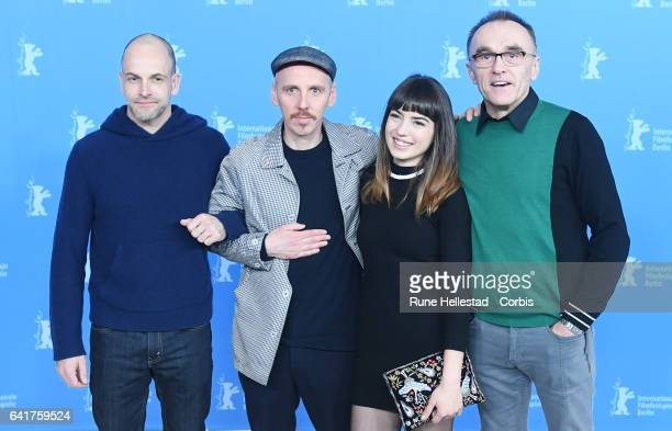 Johnny Lee Miller Anjela Nedyalkova Ewen Bremner and Danny Boyle attend the 'T2 Trainspotting' photo call during the 67th Berlinale International...