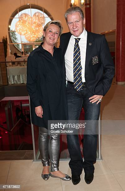 Johnny Logan and his partner Tanja Surmann during the Franz Roth Golf Cup gala evening in favour of Michael Roll Stiftung 'Tabaluga' on May 1, 2015...